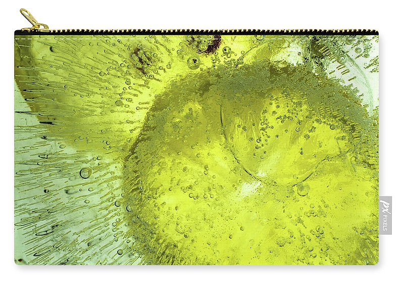 Air Carry-all Pouch featuring the photograph Slices Of Lemon by Jarmo Honkanen