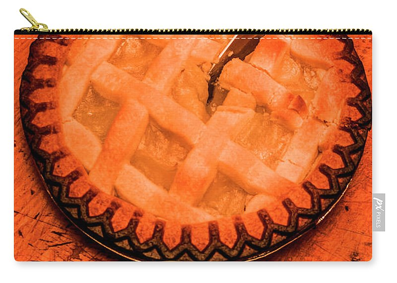 Dessert Carry-all Pouch featuring the photograph Slicing Apple Pie by Jorgo Photography - Wall Art Gallery