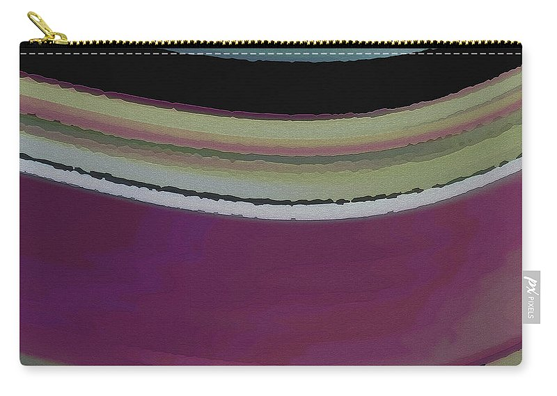 Abstract Carry-all Pouch featuring the digital art Slight Curve by Ruth Palmer