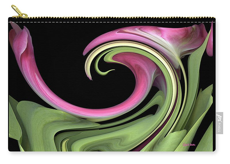 Floral Carry-all Pouch featuring the photograph Slip 'n' Slide by Carel Schmidlkofer