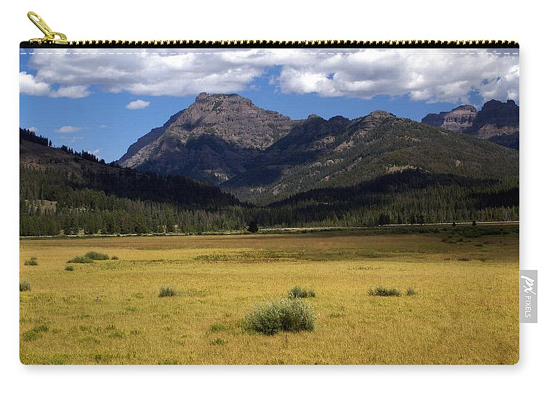 Yellowstone National Park Carry-all Pouch featuring the photograph Slough Cree Vista by Marty Koch