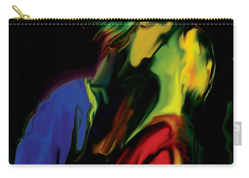 Black Carry-all Pouch featuring the digital art Slow Dance by Rabi Khan