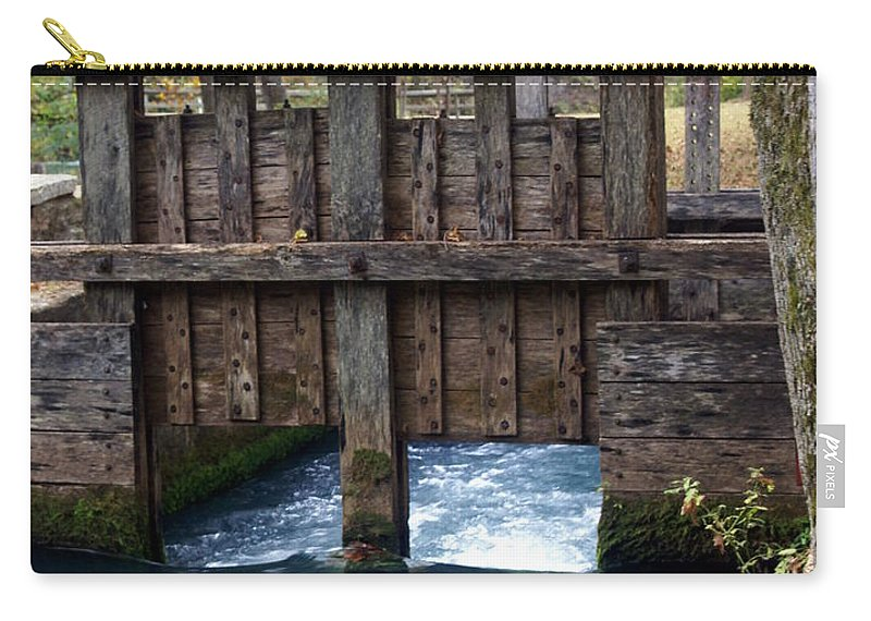 Alley Spring Carry-all Pouch featuring the photograph Sluce Gate by Marty Koch
