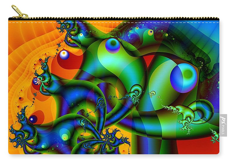 Slugs Carry-all Pouch featuring the digital art Sluggish by Ron Bissett