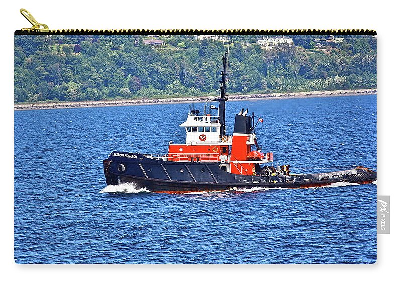 Boat Carry-all Pouch featuring the photograph Small But Strong by Diana Hatcher