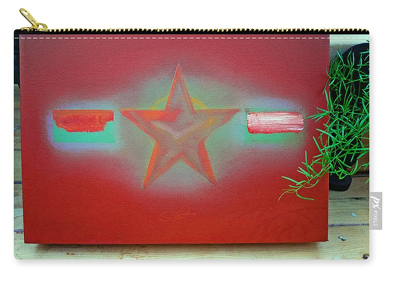 Painting Carry-all Pouch featuring the painting Small Canvas In The Studio by Charles Stuart