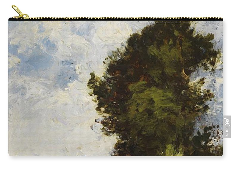 Small Carry-all Pouch featuring the painting Small Floodplain by Dupre Jules