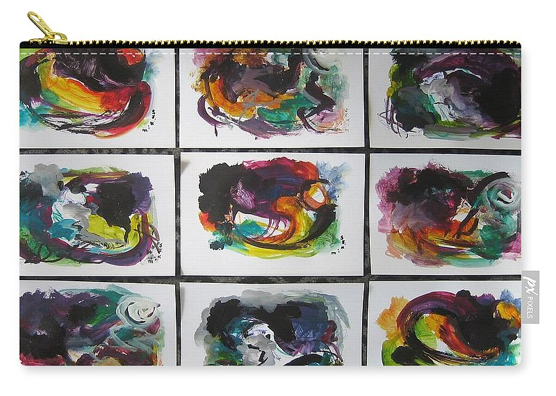 Abstract Paintings Carry-all Pouch featuring the painting Small Landscape4 by Seon-Jeong Kim