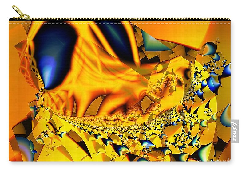 Legs Carry-all Pouch featuring the digital art Small Legs And Big Eyes by Ron Bissett