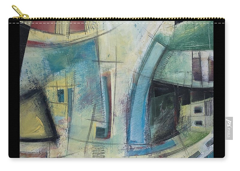 Abstract Carry-all Pouch featuring the painting Small Town Blues by Tim Nyberg