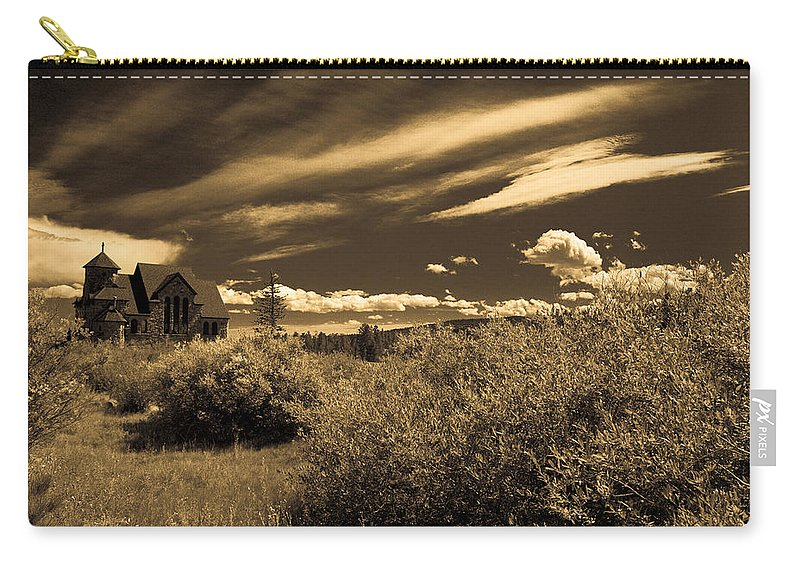 Church Carry-all Pouch featuring the photograph Small Town Church by Marilyn Hunt