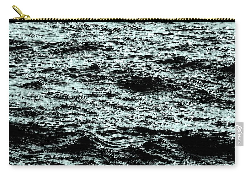 Waves Carry-all Pouch featuring the photograph Small Waves by Leah Stark