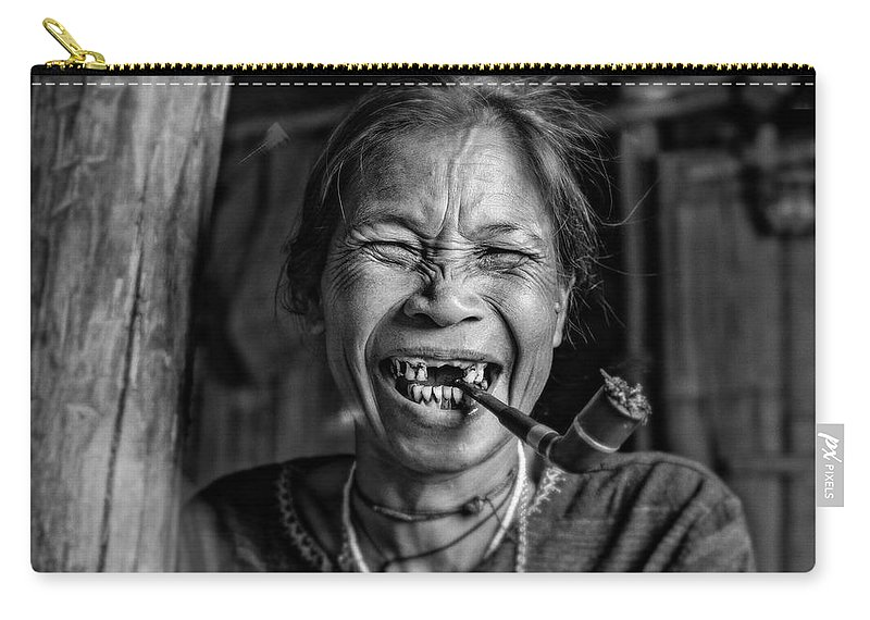 Travel Carry-all Pouch featuring the photograph Smile by Alex Szopa