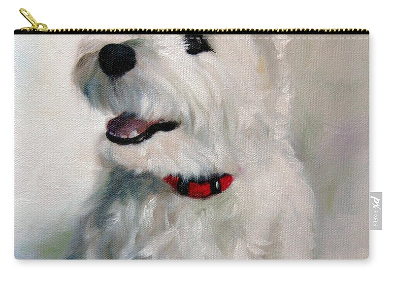 Art Carry-all Pouch featuring the painting Smiley Face by Mary Sparrow