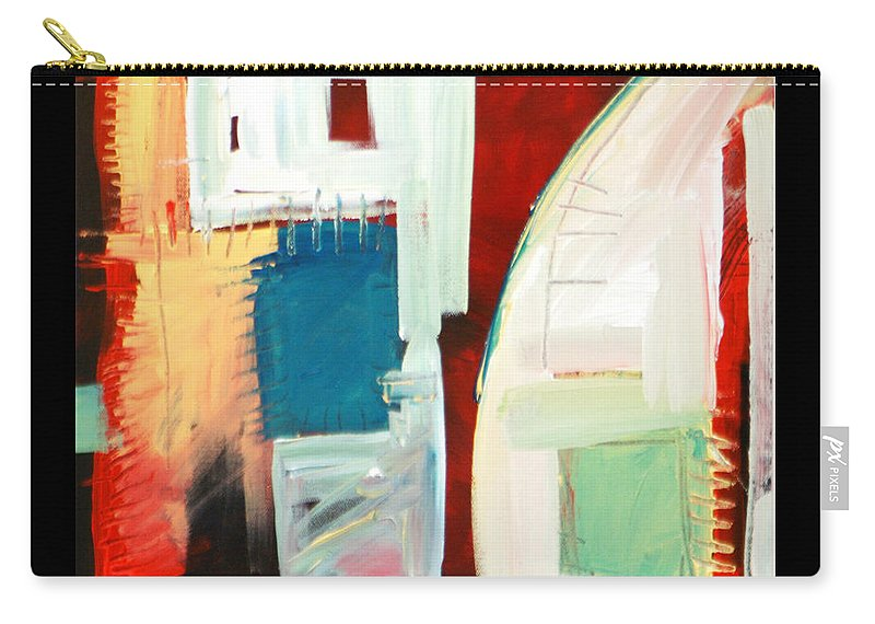 Color Carry-all Pouch featuring the painting Smilin by Tim Nyberg