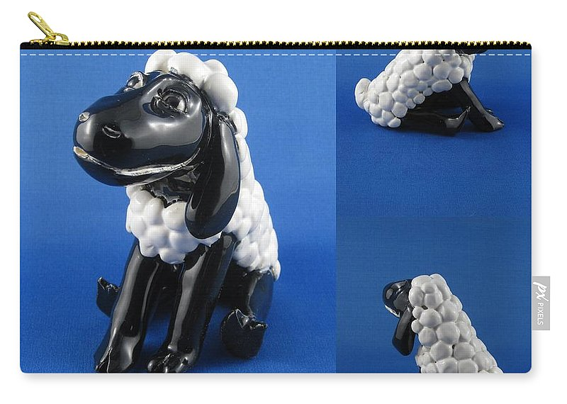 Sheep Carry-all Pouch featuring the sculpture Smiling Lamb by Bob Dann