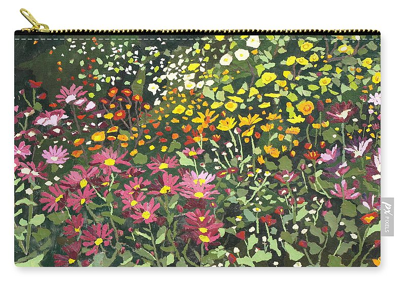 Floral Carry-all Pouch featuring the painting Smith Mums by Leah Tomaino