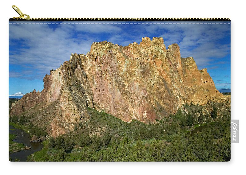 Landscape Carry-all Pouch featuring the photograph Smith Rock Oregon by Randall Ingalls