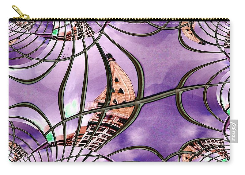 Seattle Carry-all Pouch featuring the digital art Smith Tower In King Street Station by Tim Allen