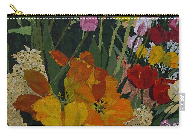 Floral Carry-all Pouch featuring the painting Smith's Bulb Show by Leah Tomaino