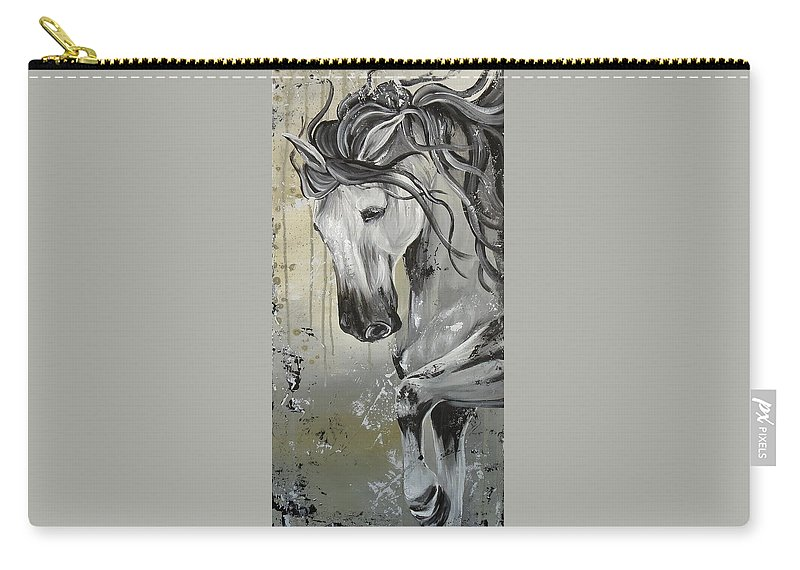 Carry-all Pouch featuring the painting Smoke And Ash by Amy Chenoweth
