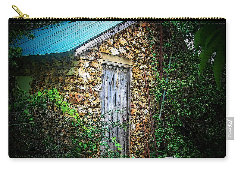 Smoke Carry-all Pouch featuring the photograph Smoke House by Terry Anderson