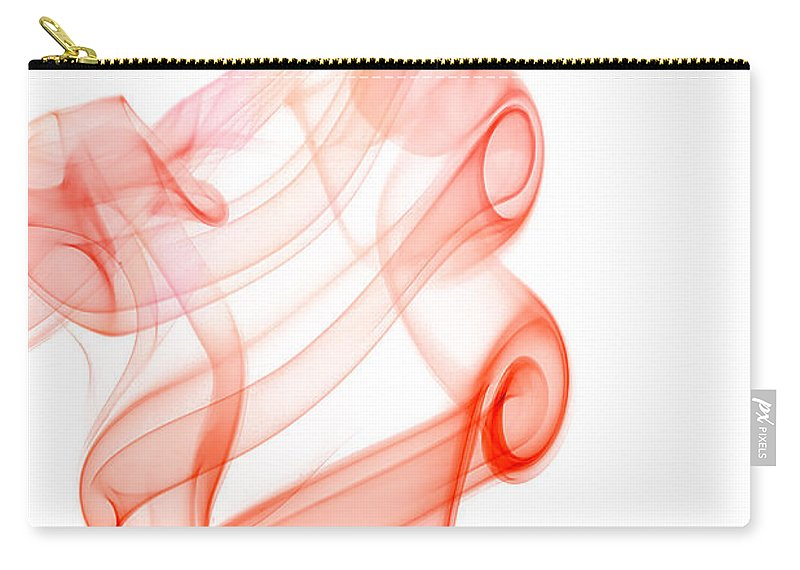Abstract Carry-all Pouch featuring the photograph smoke IX by Joerg Lingnau
