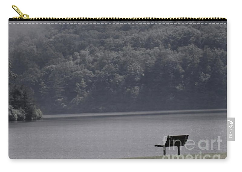 Mist Carry-all Pouch featuring the photograph Smoke Off The Water by Judy Carr