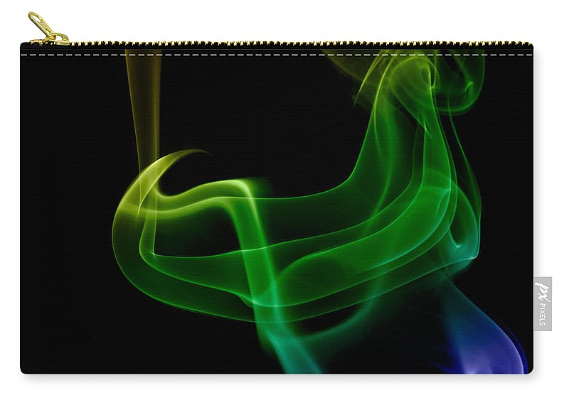 Abstract Carry-all Pouch featuring the photograph smoke XXIV by Joerg Lingnau