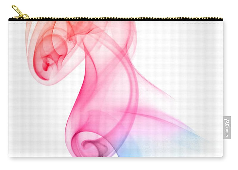 Abstract Carry-all Pouch featuring the photograph smoke XXV by Joerg Lingnau