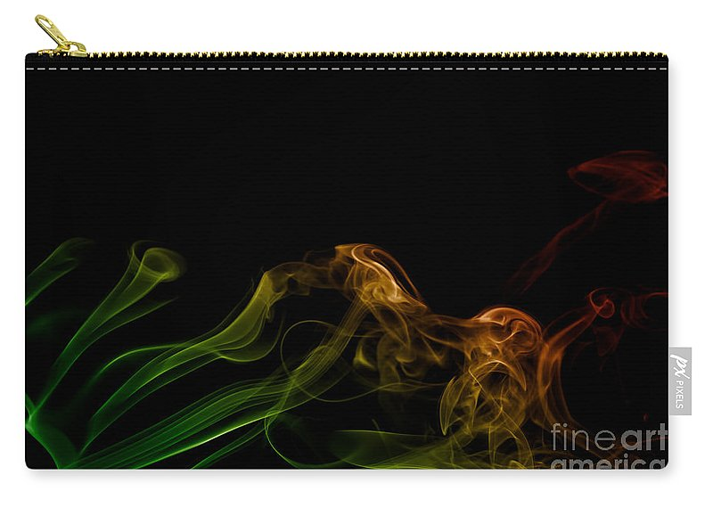 Abstract Carry-all Pouch featuring the photograph smoke XXXI by Joerg Lingnau
