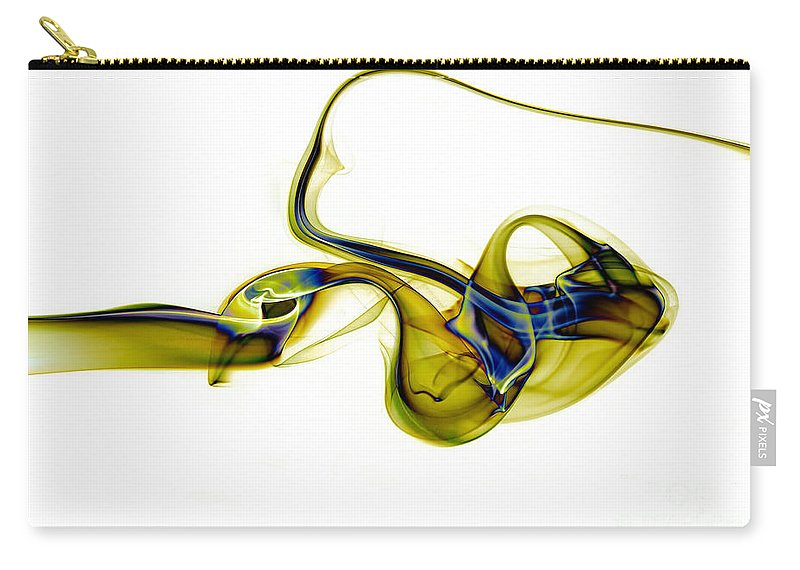 Abstract Carry-all Pouch featuring the photograph smoke XXXVII by Joerg Lingnau