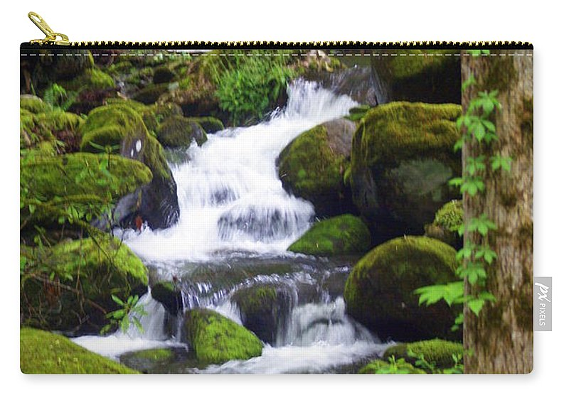 Great Smokey Mountains National Park Carry-all Pouch featuring the photograph Smokey Mountain Stream by Marty Koch