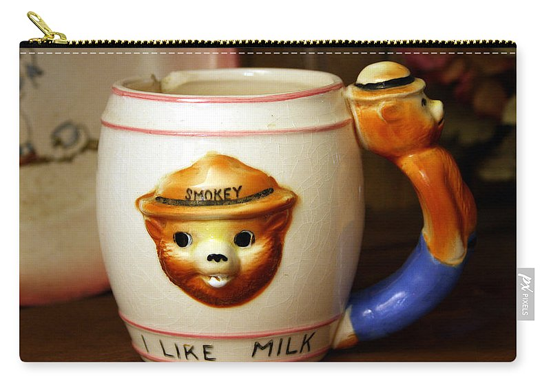 Smokey Carry-all Pouch featuring the photograph Smokey The Bear Mug by Marna Edwards Flavell