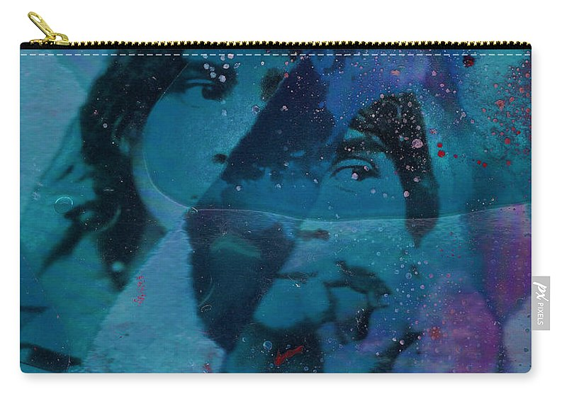 Abstract Carry-all Pouch featuring the mixed media Smoking Cigarette Defiance by Ronnie Strand