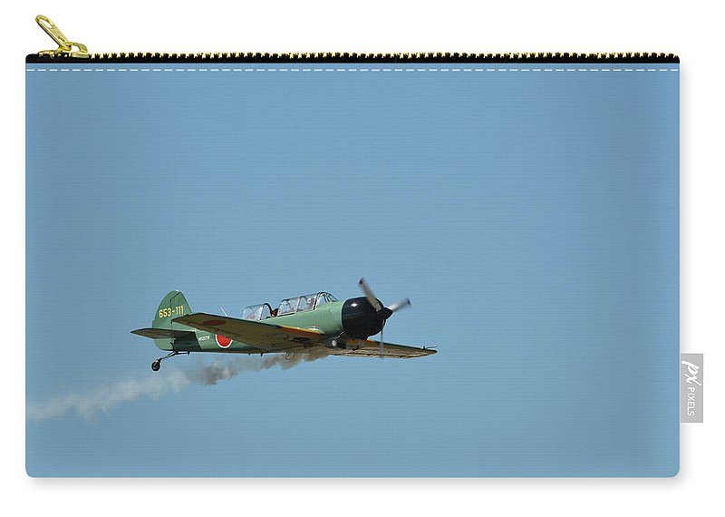 Plane Carry-all Pouch featuring the photograph Smok'n by Robert Lowe