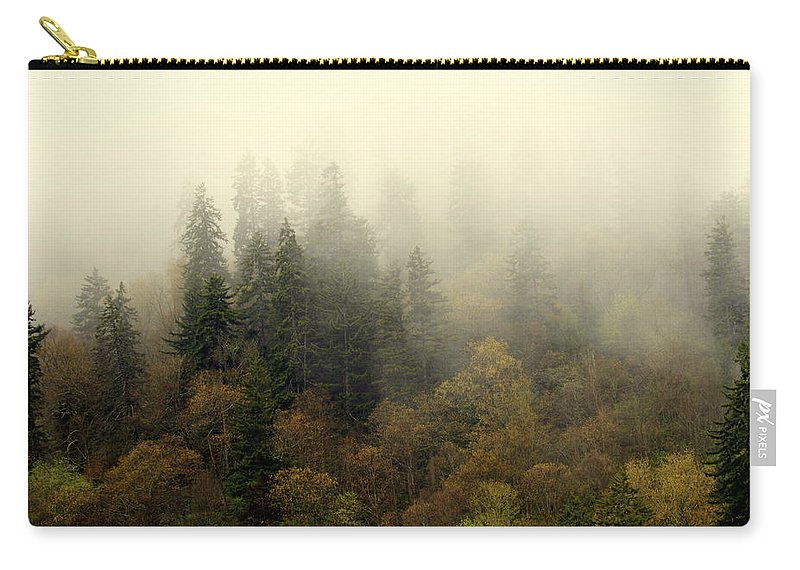 Fog Carry-all Pouch featuring the photograph Smoky Mount Horizontal by Marty Koch