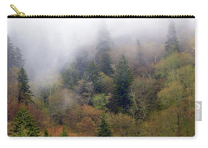 Fog Carry-all Pouch featuring the photograph Smoky Mount Vertical by Marty Koch
