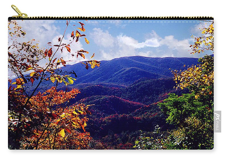 Mountain Carry-all Pouch featuring the photograph Smoky Mountain Autumn View by Nancy Mueller