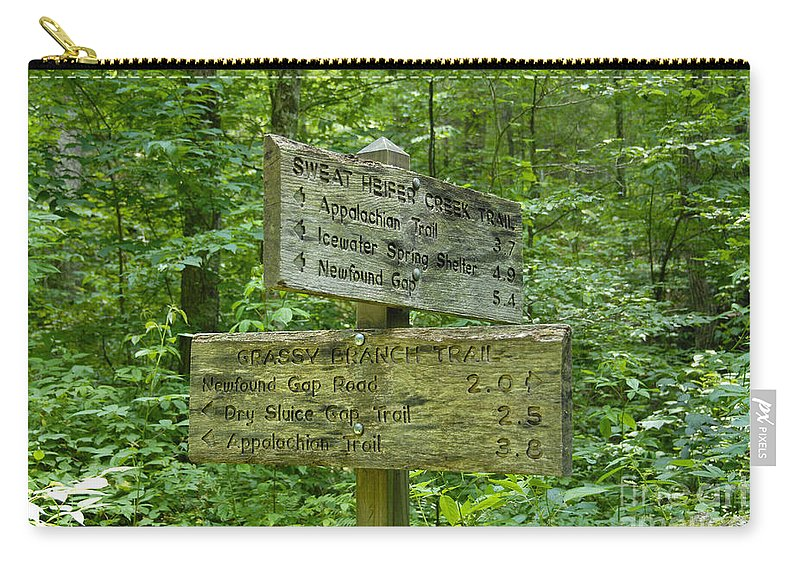 Smoky Mountain National Park Carry-all Pouch featuring the photograph Smoky Mountain Directional by David Lee Thompson