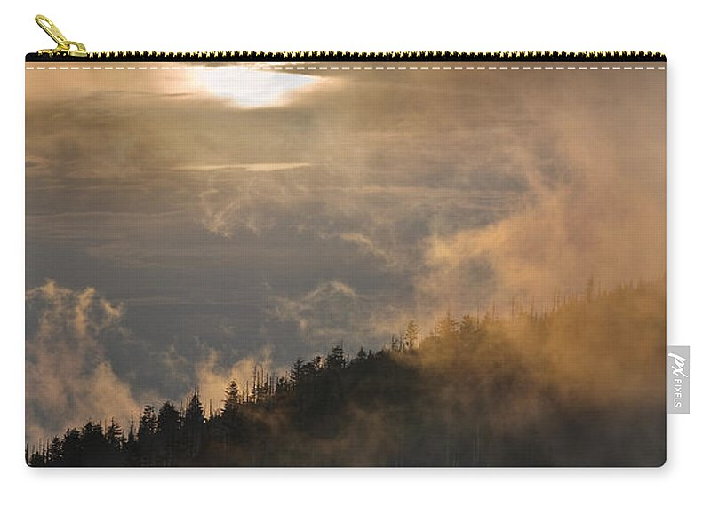 Carolina Carry-all Pouch featuring the photograph Smoky Mountain by Steve Gadomski