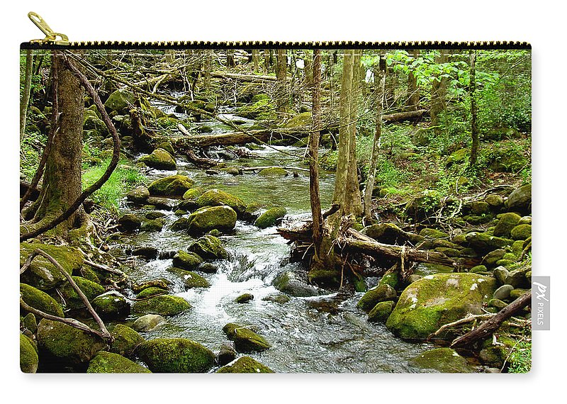 Smoky Mountains Carry-all Pouch featuring the photograph Smoky Mountain Stream 1 by Nancy Mueller
