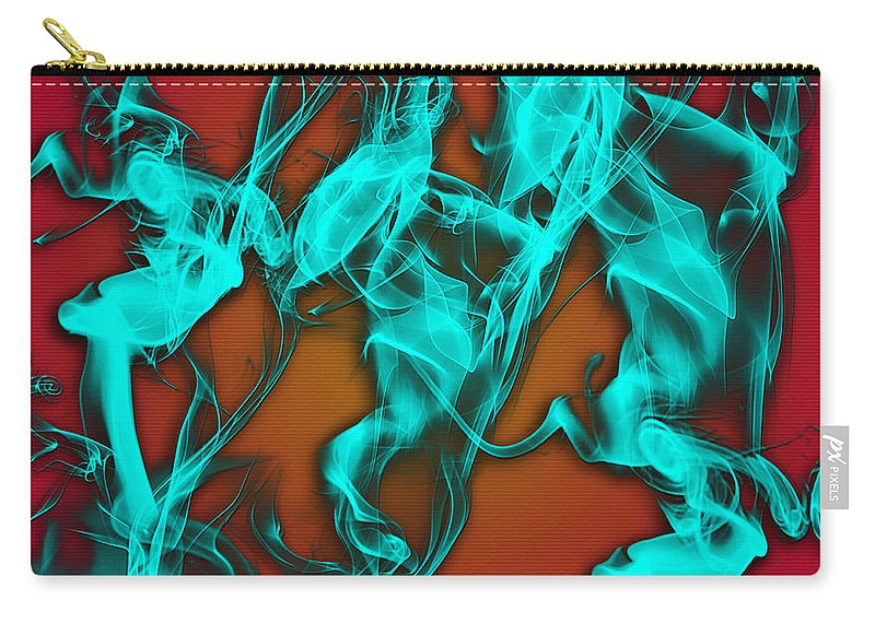 Clay Carry-all Pouch featuring the digital art Smoky Shadows by Clayton Bruster