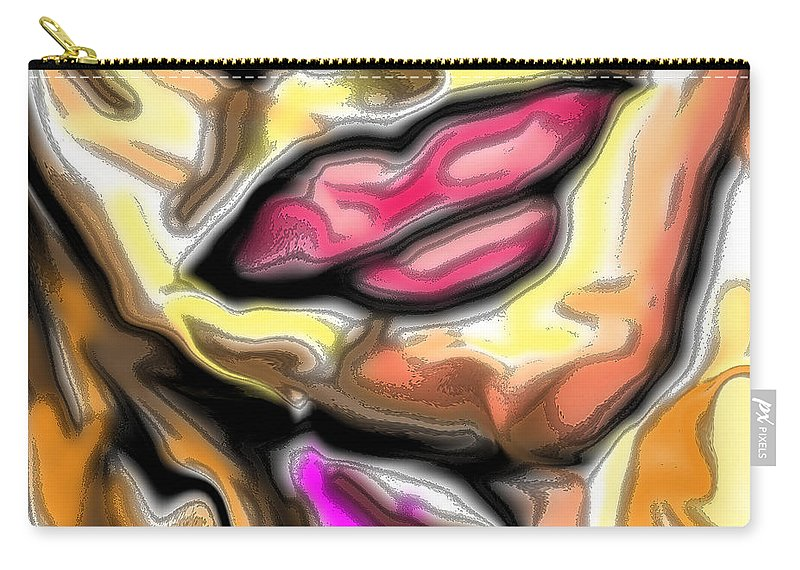 Kiss Carry-all Pouch featuring the digital art Smooch by Blind Ape Art