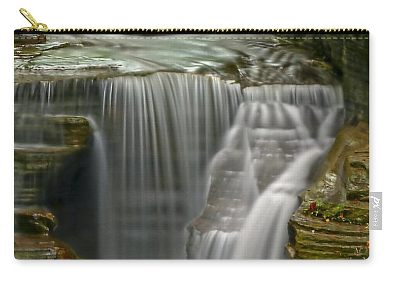 Waterfall Carry-all Pouch featuring the photograph Smooth by Evelina Kremsdorf