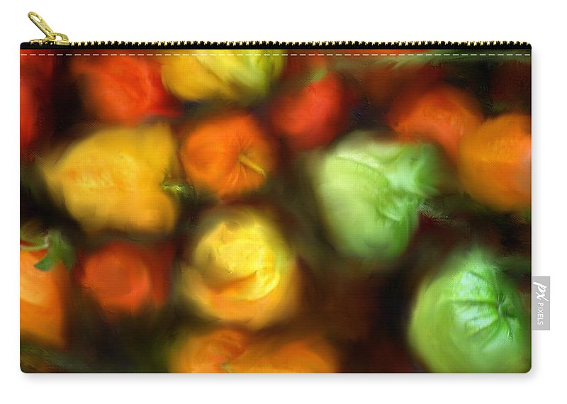 Peppers Carry-all Pouch featuring the photograph Smooth Peppers by Ian MacDonald