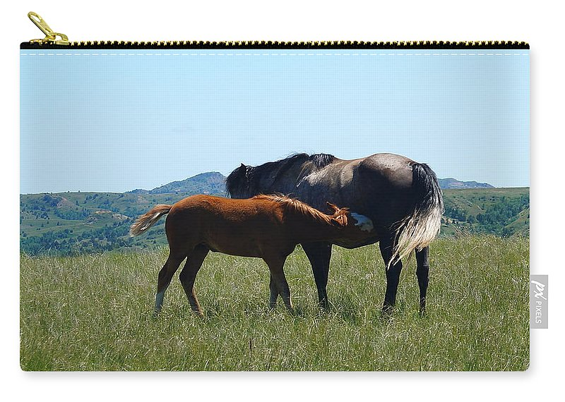 Animals Carry-all Pouch featuring the photograph Snacktime by Beth Collins