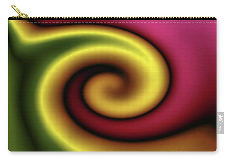 Colorful Carry-all Pouch featuring the digital art Snail by Kristin Elmquist