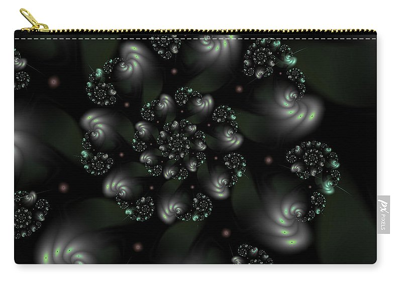 Art Carry-all Pouch featuring the digital art Snail Shells by Candice Danielle Hughes