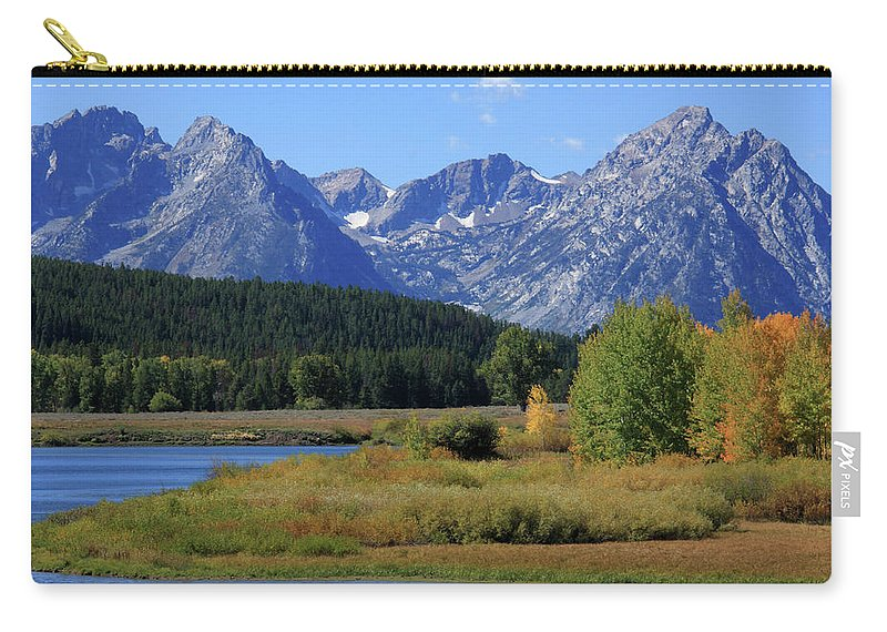 Grand Tetons Carry-all Pouch featuring the photograph Snake River, Grand Tetons National Park by Aidan Moran